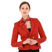 Red ladies' suit