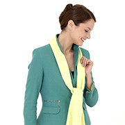 Green ladies' suit