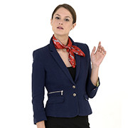 Navy-blue ladies' suit